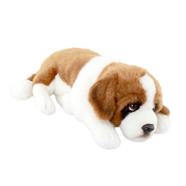 Yatan Saint Bernard Peluş Köpek 39 cm.