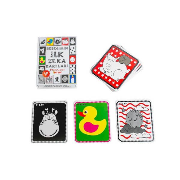 4'lü Eğitim Seti - İlk 50 Sözcük, Meyveler, Hayvanlar ve Bebeğimin Zeka Kartları