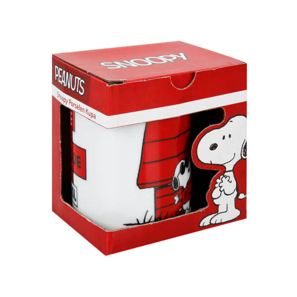 Snoopy ve Woodstock Porselen Kupa