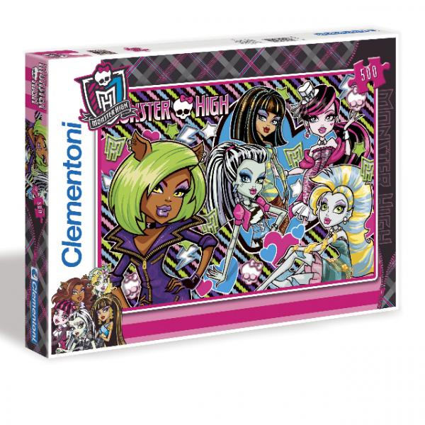 500 Parça Puzzle : Monster High Perfectly Imperfect