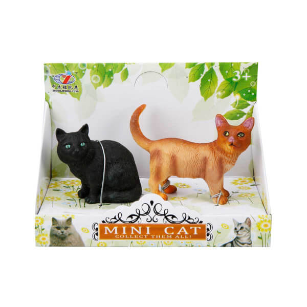 2'li Mini Kedi Figürleri