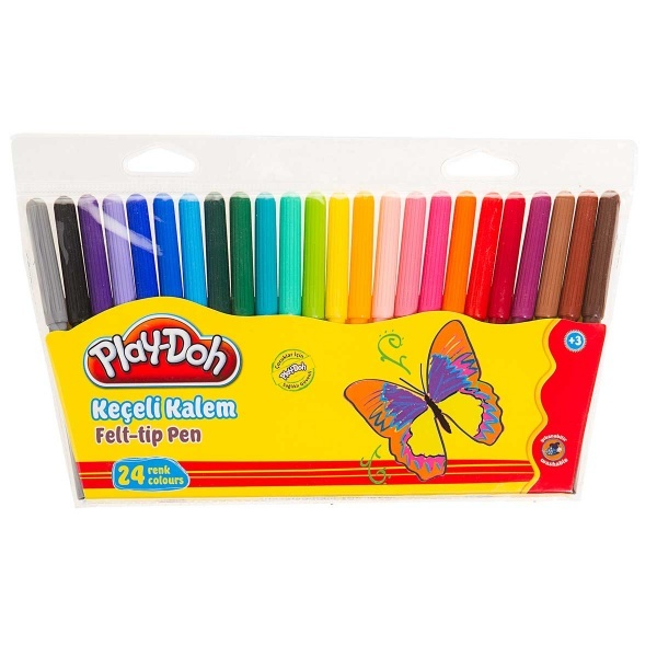 Play Doh Keçeli Kalem 24 Renk