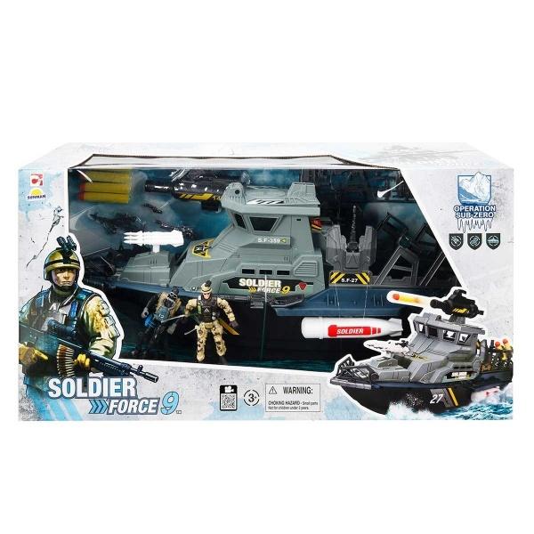 Soldier Force Askeri Gemi Oyun Seti