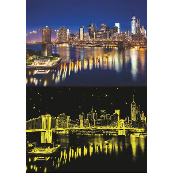 1000 Parça Puzzle : Brooklyn Köprüsü Neon