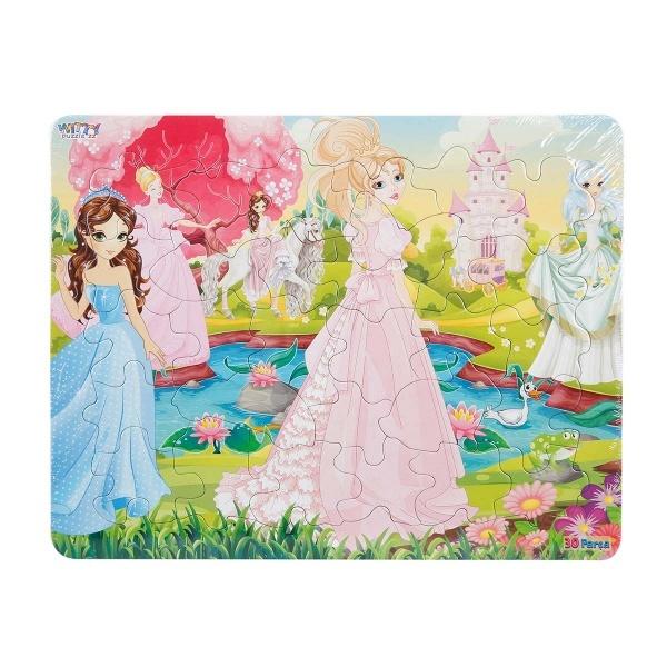 30 Parça Puzzle : Prensesler