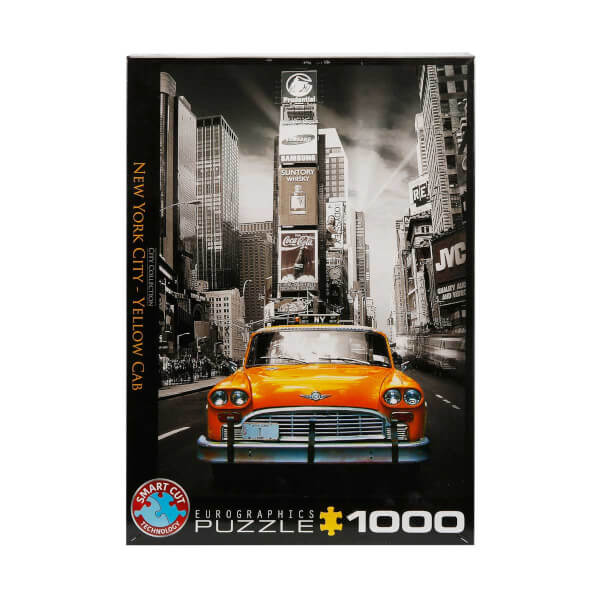 1000 Parça Puzzle : New York City Yellow Cab