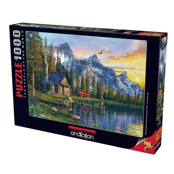 1000 Parça Puzzle : Dağevinde Günbatımı