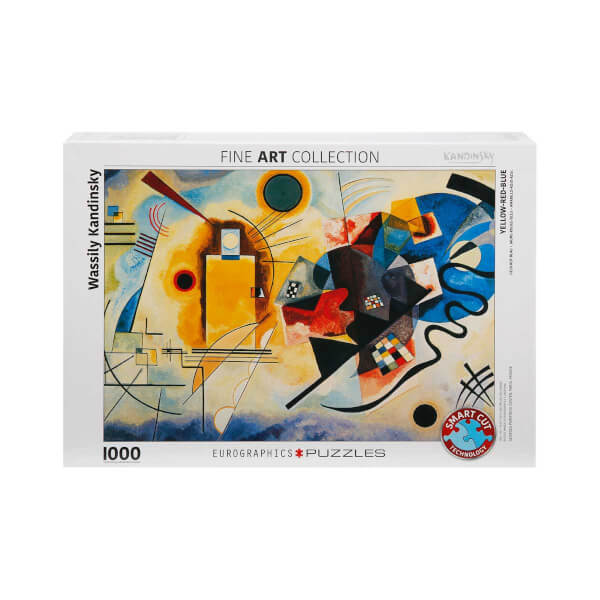 1000 Parça Puzzle : Yellow Red Blue - Wassily Kandinsky