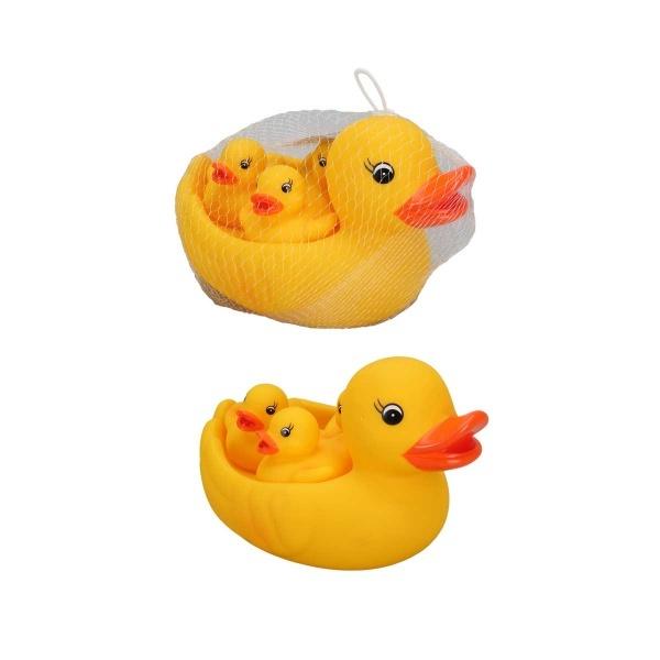 4'lü Banyo Oyuncağı Ördek Anne ve Yavruları
