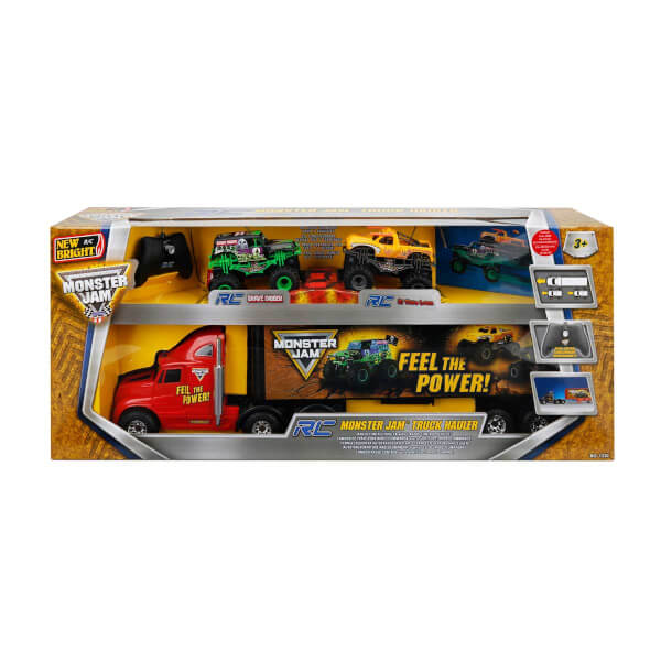 1:16 Uzaktan Kumandalı Monster Jam Truck Hauler Tır