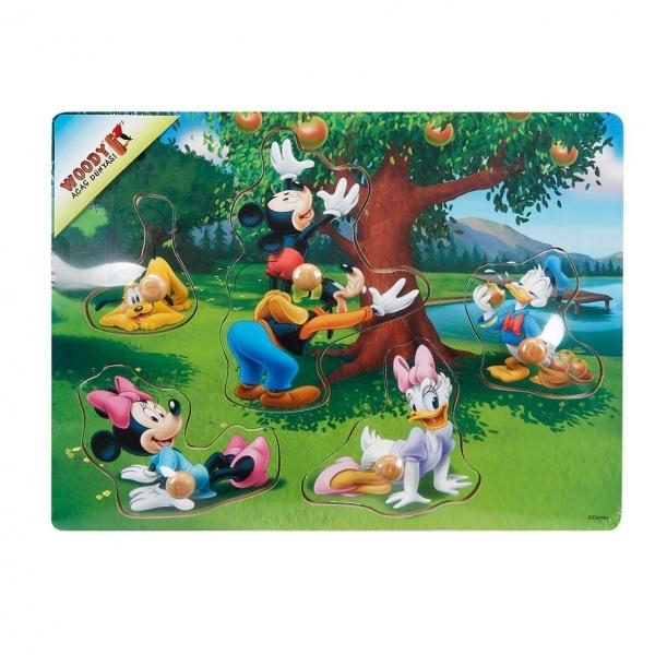 Mickey Mouse Ahşap Bultak Raptiyeli