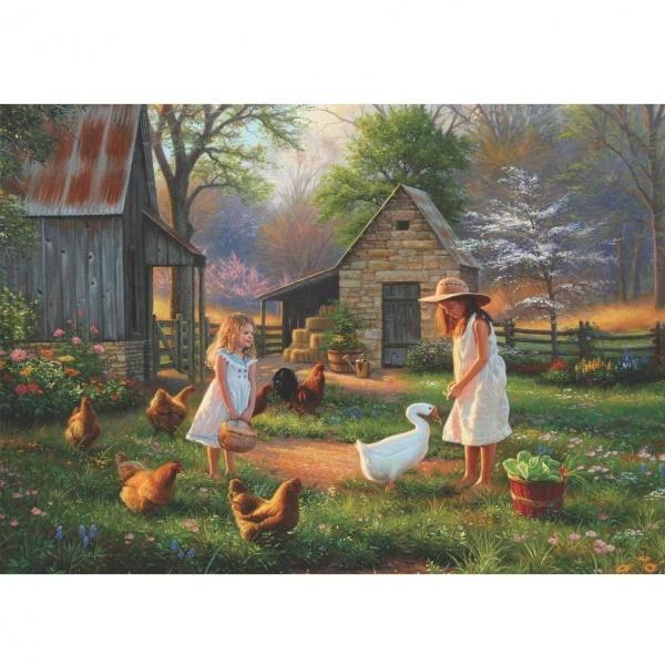500 Parça Puzzle : Çiftlikte Akşamüstü