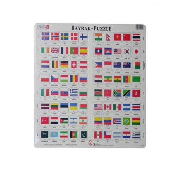 80 Parça Maxi Puzzle :  Ülke Bayrakları