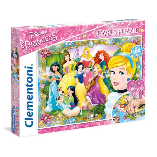 104 Parça Puzzle :  Disney Princess Jewels