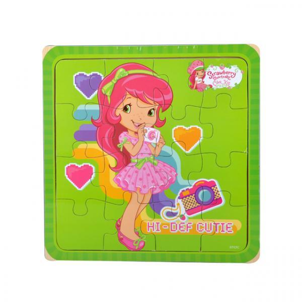 Çilek Kız Elektronik Aşkı Ahşap Puzzle 16 Parça
