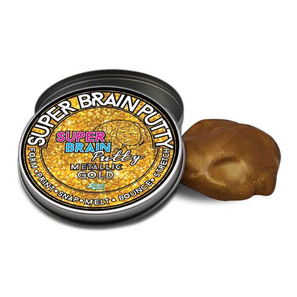 Slimy Super Brain Putty Gökkuşağı ve Metalik Renkler