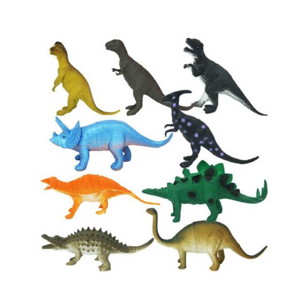 Dinozorların Dünyası Poşetli 9'lu Hayvan Oyun Seti