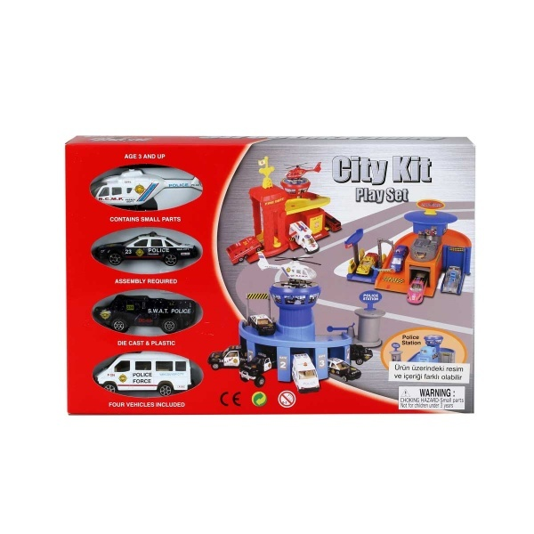 4 Araçlı Mini Garaj Seti