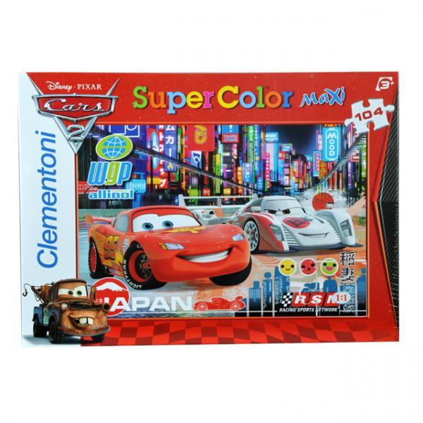 104 Parça Maxi Puzzle : Cars 2 Racing Rivals