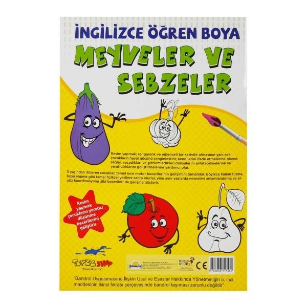 İngilizce Öğren Boya: Meyveler ve Sebzeler