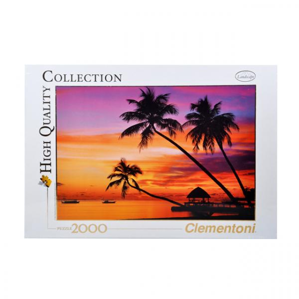 2000 Parça Puzzle : Maldives at Sunset