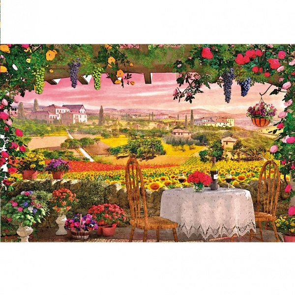 1000 Parça Puzzle : Romantic Italy Toscana