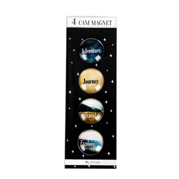 Travel 4'lü Cam Magnet