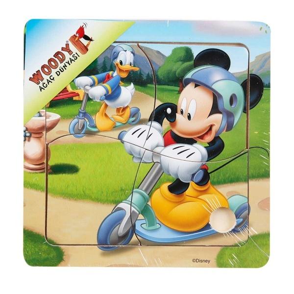 Mickey Mouse Ahşap Puzzle 4 Parça