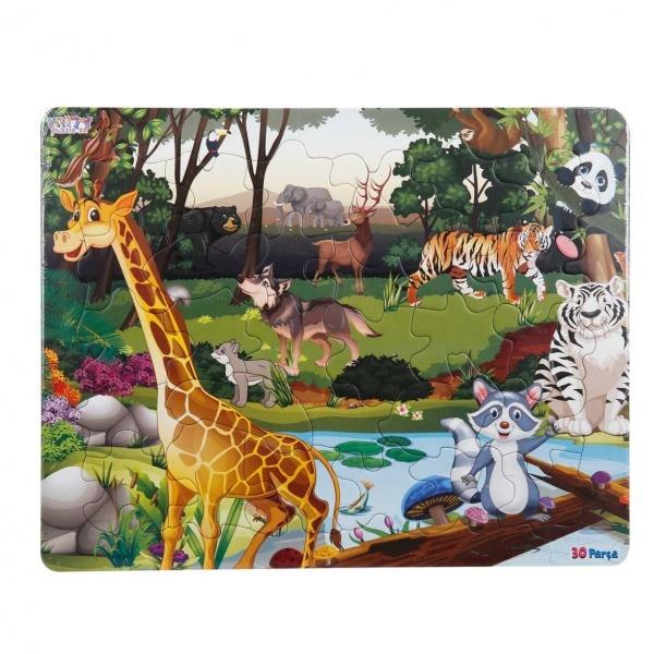 30 Parça Puzzle : Orman Hayvanları