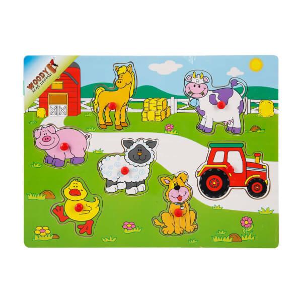Bul ve Tak Hayvanlar ve Araçlar Ahşap Puzzle