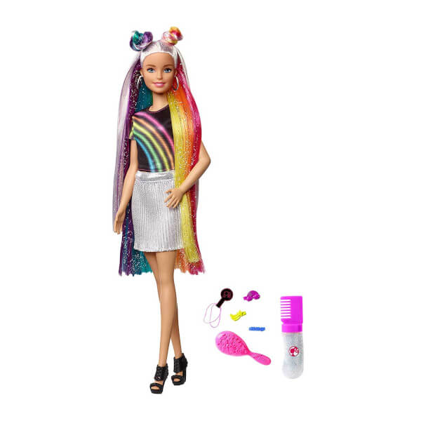 Barbie Gokkusagi Renkli Saclar Bebegi Fxn96 Toyzz Shop