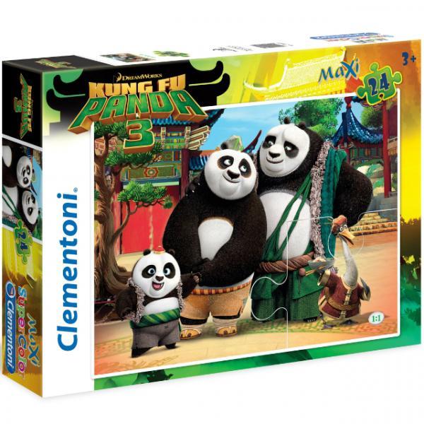 24 Parça Maxi Puzzle : Kung Fu Panda Less Kick More Chi