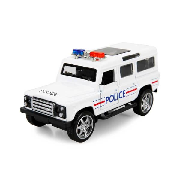Maxx Wheels Işıklı Polis Jeep Model Arabalar 12 cm.