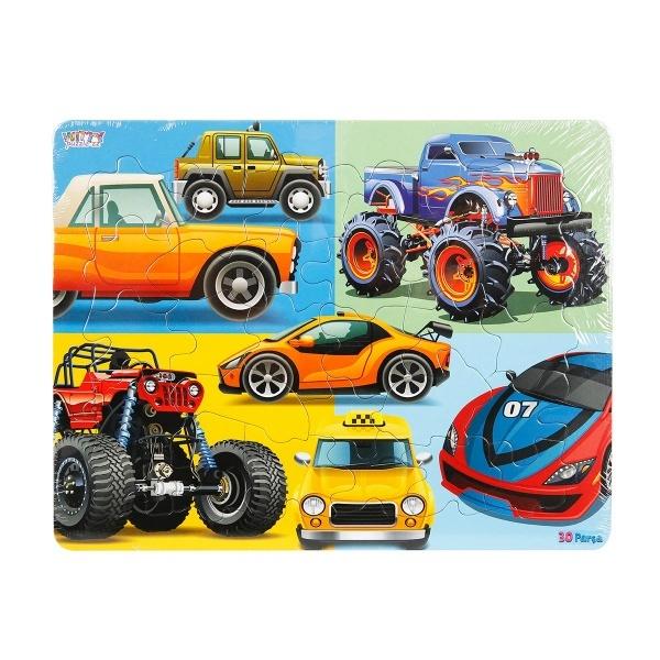 30 Parça Puzzle : Arabalar