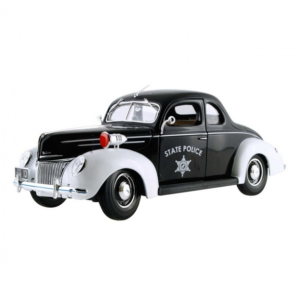 1:18 Maisto Ford Deluxe Police 1939 Model Araba