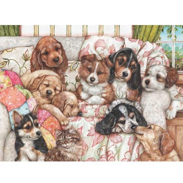 1000 Parça Puzzle : Yavru Köpekler