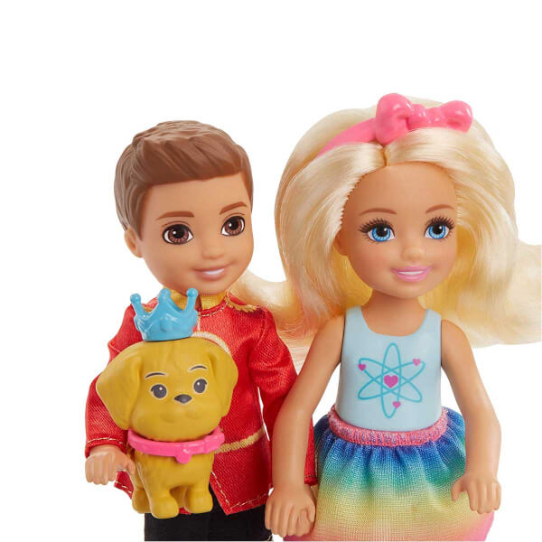Barbie Dreamtopia Chelsea ve Notto Bir Arada Oyun Seti FRB14