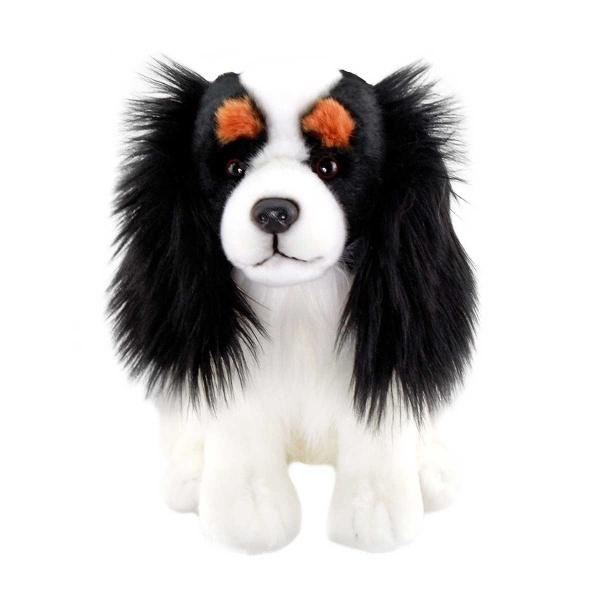 Floppy İspanyol King Charles Siyah-Beyaz Peluş Köpek 28 cm.
