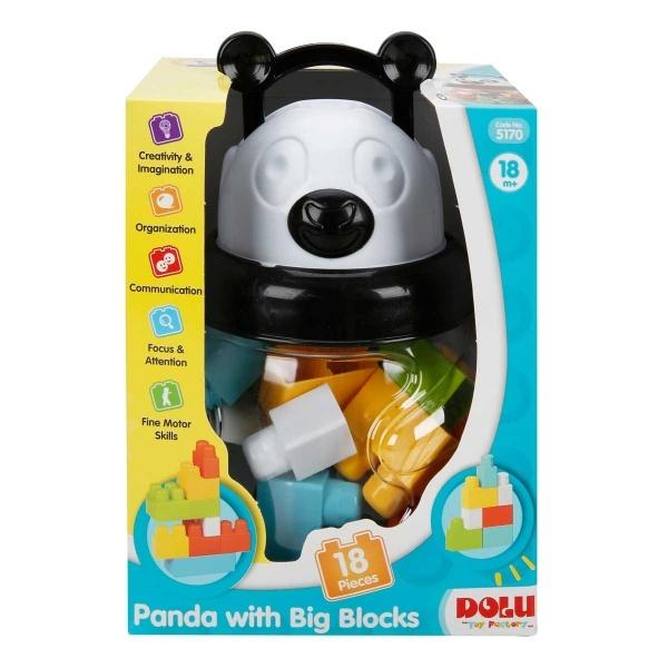 Dolu Panda Büyük Bloklar 18 Parça