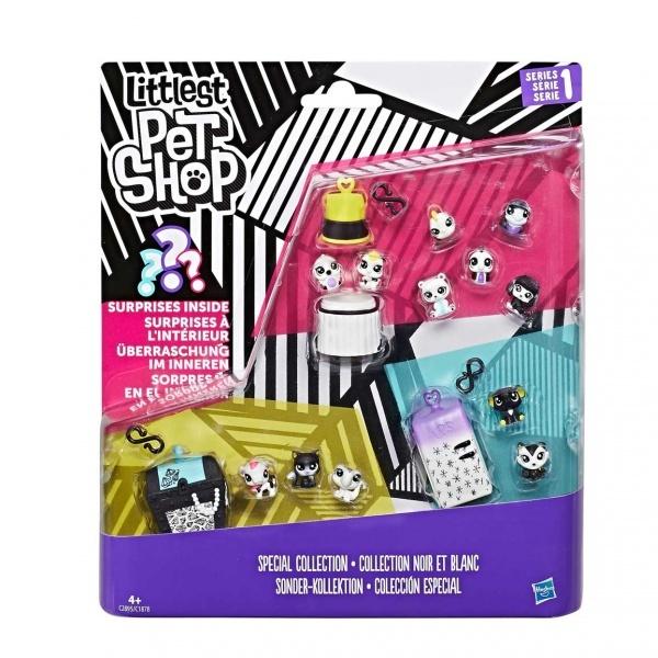 Littlest Pet Shop Miniş Siyah Beyaz Koleksiyonu Özel Set C1878